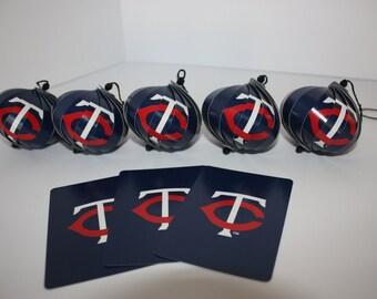 Minnesota Twins Ornaments : Single or Set of 5