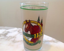 Vintage Official 1987 Commemorative KENTUCKY DERBY Glass by Libbey - Wonderful condition