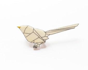 Brooch origami bird
