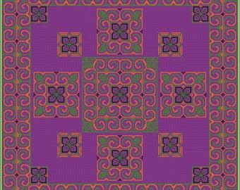 cross stitch pattern pdf chart instant download modern cross stitch cushion cover digital xstitch housewarming gift modern decor traditional