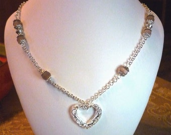 "Chain necklace ""My love"""
