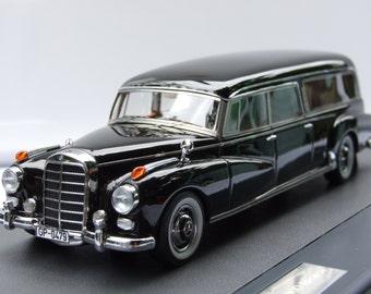 Matrix scale models 1956 Mercedes-Benz 300 d pollman hearse (w186) 1:43