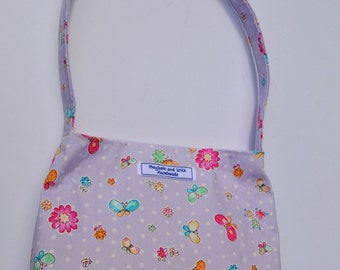 Purple 'Isabella' Girls Bag, small bag, handmade bag, girls purse