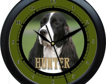 """Springer Spanial  10"""" Personalized Wall Clock Gift"""