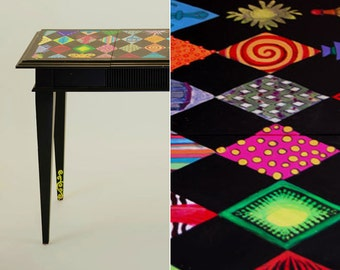 Harlequin Hand Painted Desk