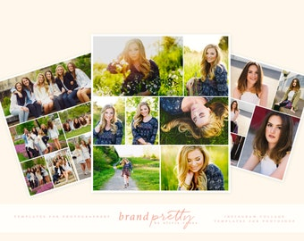 Instagram or Social Media Marketing Collage Photoshop Templates for Photographers