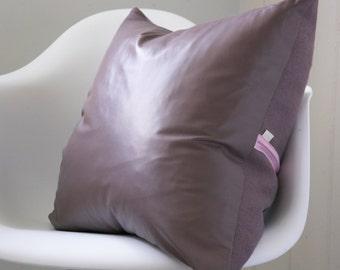 Heather cushion, purple leather cushion, leather pillow, purple cushion, pink cushion, purple home accent, home gift, luxury home