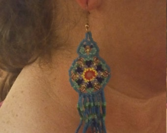 Native American inspired, beaded earrings