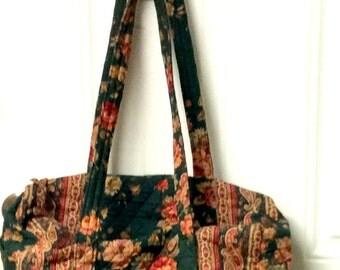 Rare 1987 Vera Bradley Greenbriar Small Duffel Bag