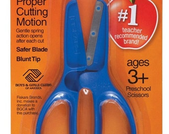 Fiskars 11 cm My First Squeezers Scissors BLUE