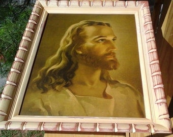 Print of Jesus, Vintage Framed Print by Warner Sallman
