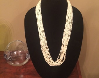 Never worn new price freshwater pearl necklace extra long vintage
