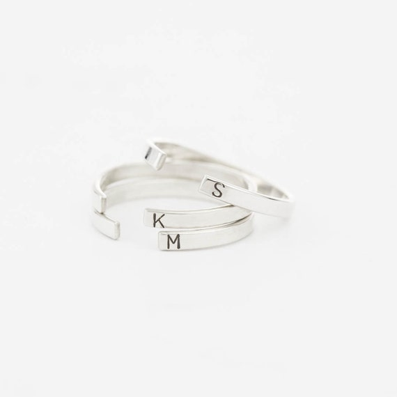 open band ring stacking ring simple personalized ring