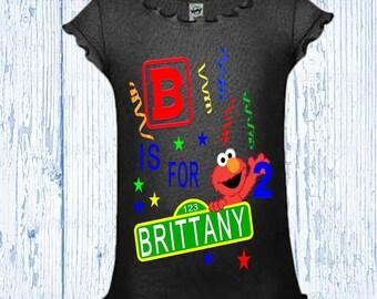 Elmo Birthday Shirt - Girl's Elmo Birthday Shirt