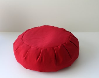 Round Zafu Meditation Cushion - Red