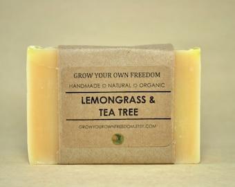 Organic Soap: Lemongrass and Tea Tree Soap || Lemongrass Soap || Organic Vegan Soap