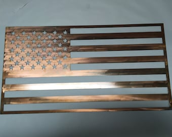 Steel American Flag Copper Finish