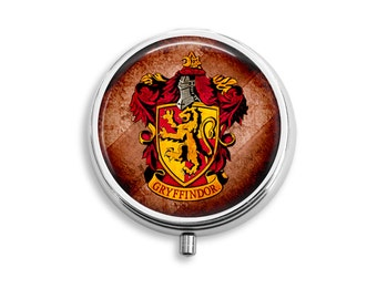 Harry Potter House Of Gryffindor Pill Box, Pill Case, Pill Container, Mints Container, Trinkets Box, Jewelry Box (P022)