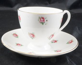 Queen Anne Fine Bone China Cup and Saucer Lots of ROSES