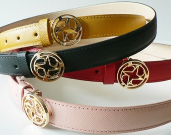 Ladies leather belt. Perfect with high waist and low waist outfits.