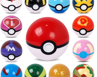 Pokeball Toy for kids, poke ball,ultra ball,master,great ball,container gift ideas for her, proposal ring holder, creative packaging box