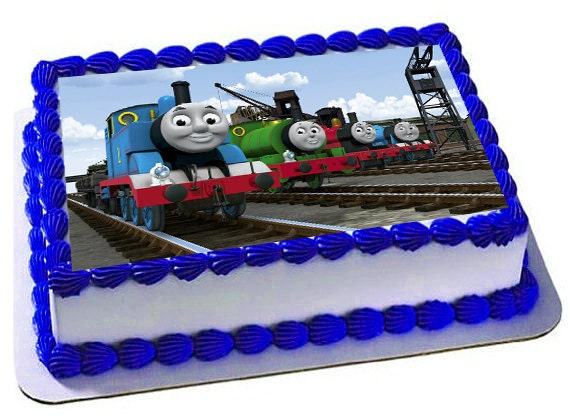 Thomas And Friends Edible Cake Topper Frosting Sheet Thomas