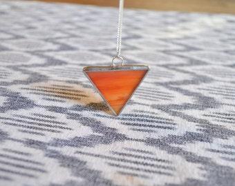 Sunrise Triangle Necklace