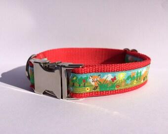 Foxy fox dog collar Dogcollar/-