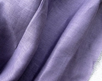 Linen fabric in dusty purple, sold by 1/2 yard