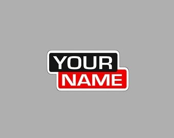 Custom Name Lincoln Welder Decal~Personalized Welding Sticker~Hard Hat, Welding Hood, Welding Machine, Truck