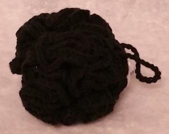 Crocheted Cotton Loofah - Black