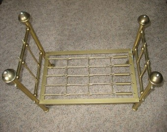 """Brass Bed For Doll. """" Large"""" 18' by 11"""""""