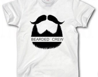 Brearded Crew T-Shirt S-XXXL Funny Mustache Cool
