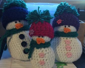 Custom Snowmen Families- MADE TO ORDER