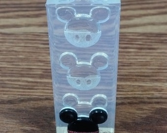 Mickey Mouse silicone rubber mold/mould for crafts, jewelry, scrapbooking,gumpaste, fondant, resin, polymer clay, pmc, candy, isomalt.