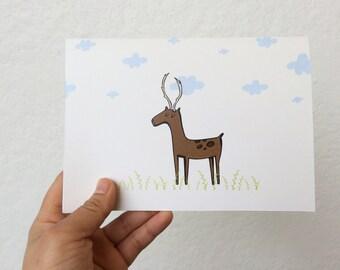 Cute Deer Greeting Card