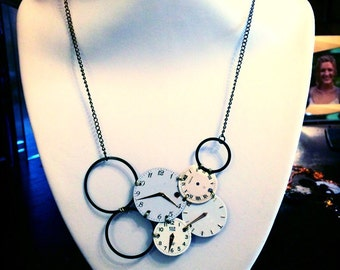 "Necklace watch dials ""numb"""