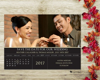 Calendar Save The Date -  traditional, formal, text, template, ring, portrait, classic, date, planner, free customization, digital sample