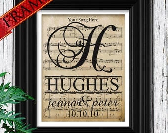 Personalized Wedding Song For Him - Anniversary Gift for Husband & Wife - Mens Personalized Gift - Anniversary Date - 7th Anniversary 7 Year