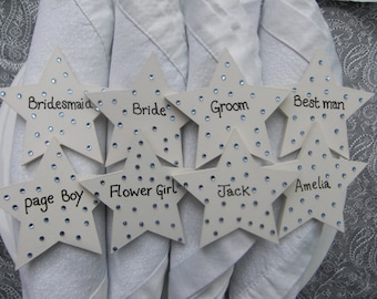 Wooden Personalised Wedding/ Place Settings