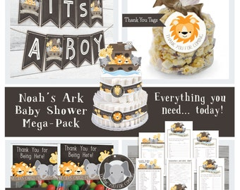 Baby Shower Mega Party Pack, Noah's Ark Baby Shower