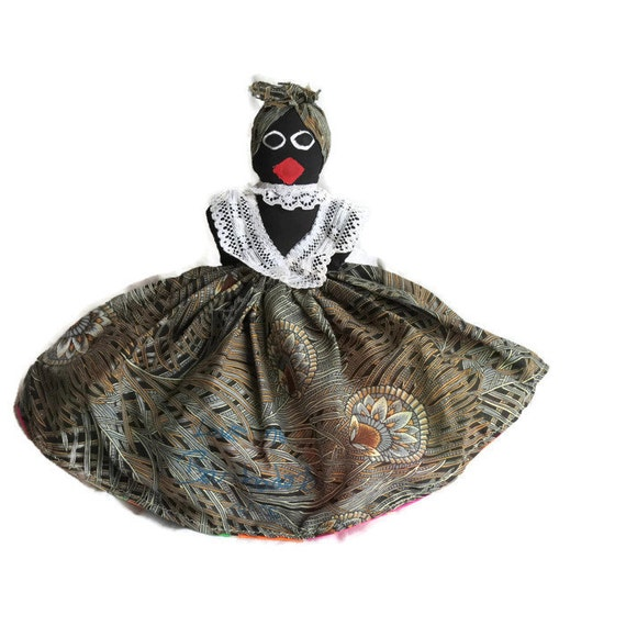 Topsy Turvy doll from Barbados ~ Black toys ~ African American toy ~ Historical doll ~ Gift for girl ~ doll collector gift ~ Mammy doll