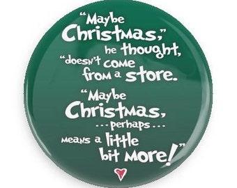 Grinch Christmas Button