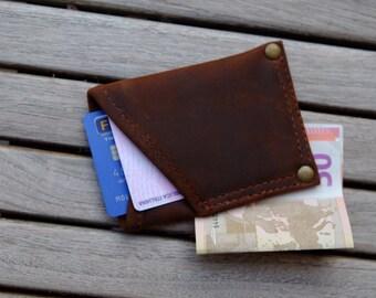 real leather card & cash card holder/wallet genuine leather wallet--money in real leather