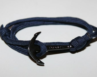 Black rope anchor strap sailor