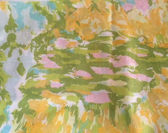 Vintage percale abstract floral pillowcase, free shipping!