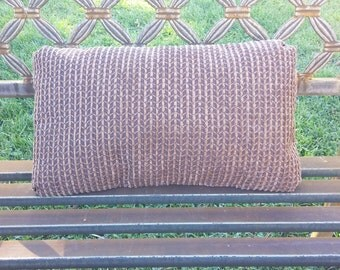 Chenille Pillow with pleated corners