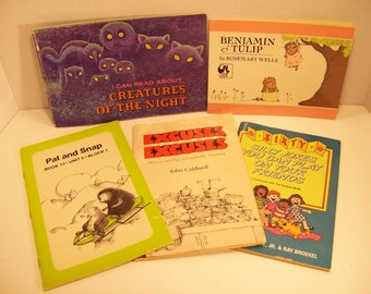 Vintage Books Late 70s Early 80s Kids Lots Story Books (5)