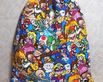 Mario Character Drawstring Bag