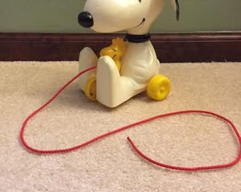 Vintage Snoopy and Woodstock kids toy (1972)